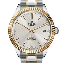 Tudor Style Gold/Steel 38mm Silver