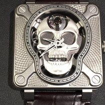 Bell & Ross BR 01 new 2018 Manual winding Watch with original box and original papers BR01-SKULL-SK