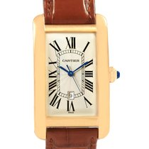 Cartier 45mm Automatic pre-owned Tank Américaine