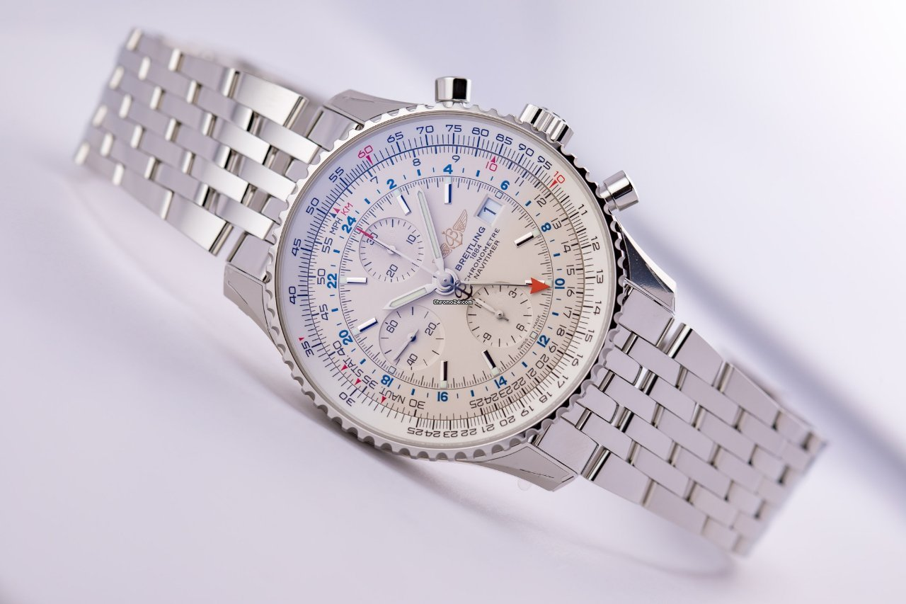 4fc5e4a26 Breitling NAVITIMER 1 CHRONOGRAPH GMT 46 for $5,880 for sale from a Trusted  Seller on Chrono24