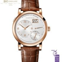 A. Lange & Söhne Rose gold Manual winding Silver Roman numerals 38.5mm new Lange 1