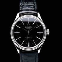 Rolex Cellini Time pre-owned 39mm Black Crocodile skin