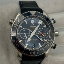 Omega Seamaster Planet Ocean Chronograph pre-owned 45.5mm Blue Chronograph Date Leather