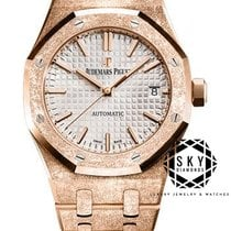 Audemars Piguet Royal Oak Lady Rose gold 37mm Silver No numerals
