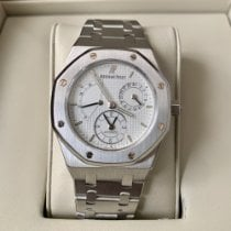 Audemars Piguet Royal Oak Dual Time Acero 36mm Blanco Sin cifras