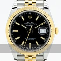 Rolex Datejust Gold/Steel 41mm Black