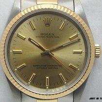 Rolex Oyster Perpetual Ouro/Aço 34mm Sem números