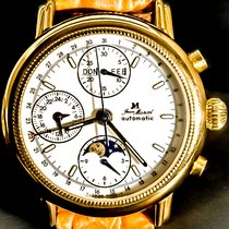 Jean Marcel Kalender Moonphase Chrongraph Gold Plated 160.145