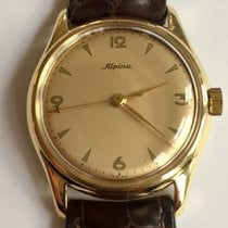 Alpina Yellow gold Manual winding Champagne Roman numerals 32mm pre-owned