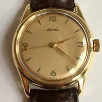 Alpina Or jaune 32mm Remontage manuel vintage Alpina occasion