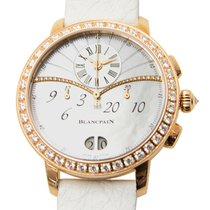 宝珀  Women 18 K Rose Gold With Diamonds White Automatic...