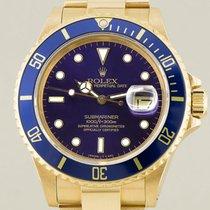 Rolex 16808 Or jaune Submariner Date 40mm