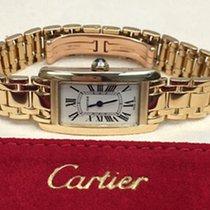 Cartier Tank Américaine używany 27mm Żółte złoto