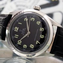 Tudor pre-owned Manual winding 34mm Black Plexiglass
