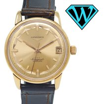 Longines Yellow gold Automatic Champagne 34.7mm pre-owned Conquest