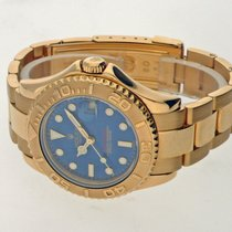 Rolex Yellow gold Automatic Blue No numerals 35mm pre-owned Yacht-Master