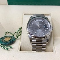 Rolex White gold Automatic Grey Roman numerals 40mm new Day-Date 40