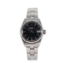 Rolex Oyster Perpetual Lady Date Stahl 25mm Schwarz