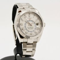 Rolex Sky-Dweller occasion 42mm Champagne Date GMT or blanc