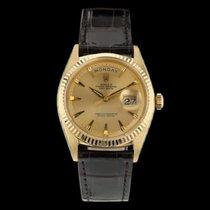 Rolex Day-Date 36 gebraucht 36mm Gold Datum Krokodilleder