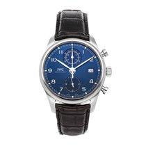 IWC Portuguese Chronograph Acier 42mm Bleu Arabes