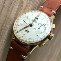 Angelus Chronograph 38mm Manual winding 1946 pre-owned Champagne