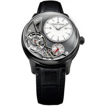 Maurice Lacroix Masterpiece Gravity Satin Steel Case, Crocodil...