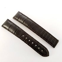 Omega 19 /16mm dark brown Alligator leather strap