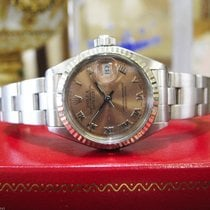Rolex Oyster Perpetual Datejust Copper Salmon Dial Steel Watch
