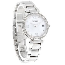 Citizen Eco-Drive Ladies Marne Diamond White Dial Watch...