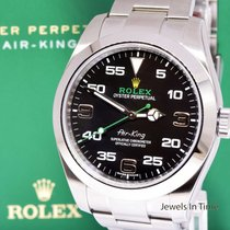 Rolex Air-King 40mm Steel Mens  Watch Box/Papers/Tags AirKing...