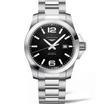 浪琴 (Longines) Conquest, L37784586, Black Dial, Stainless Steel