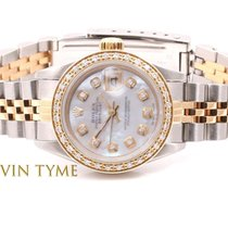 Rolex Ladies 2tone Datejust - Mother Of Pearl Diamond Dial -...