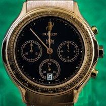 Hublot Bang Sport Chronograph 37mm 18K Yellow Gold Rare Blue Dial