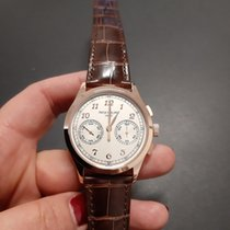 Patek Philippe Or rose Remontage manuel Argent Arabes 39.4mm occasion Chronograph