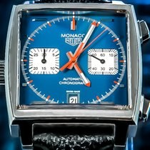 TAG Heuer Chronograph 38mm Automatic pre-owned Monaco Calibre 11 Blue