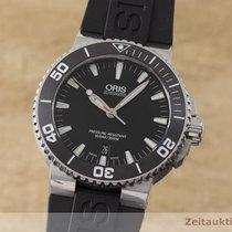 Oris Aquis Date rabljen 43mm Crn Datum, nadnevak Kaučuk