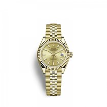 Rolex Lady-Datejust Желтое золото 28mm Цвета шампань