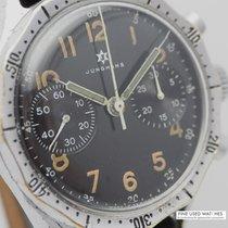Junghans gebraucht Handaufzug 38mm Schwarz Plexiglas