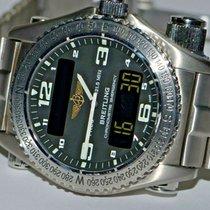 Breitling Titanium Quartz Black Arabic numerals 43mm pre-owned Emergency