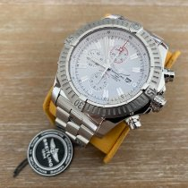 Breitling Super Avenger Steel 48mm White No numerals