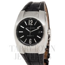 Bulgari Ergon Steel 40mm Black Arabic numerals