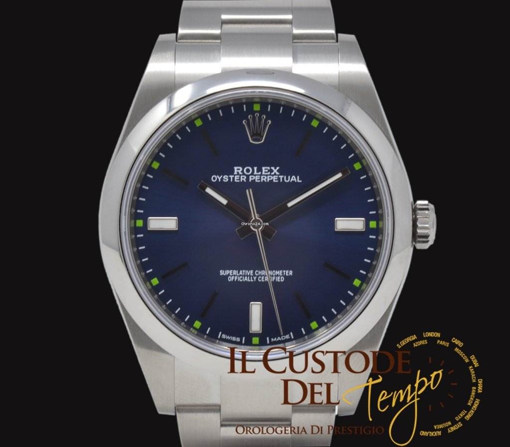 Rolex Oyster Perpetual 39 114300 Blue Dial NEW 2019