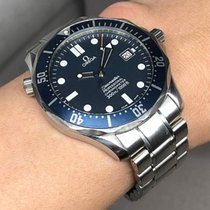 Omega Steel Automatic Blue 42mm pre-owned Seamaster
