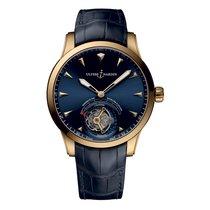 Ulysse Nardin Classic Ulysse Anchor Tourbillon Rose gold 44mm Blue
