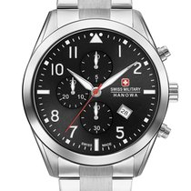 Swiss Military new Quartz 43mm Steel Sapphire crystal