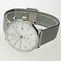 Junghans max bill Chronoscope Steel 40mm White Arabic numerals