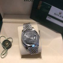 Rolex Datejust Steel 41mm Green No numerals