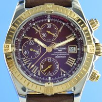 Breitling Chronomat Evolution gebraucht 44mm Bordeaux Chronograph Datum Leder