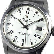 Rolex Oyster Perpetual Date Сталь 34mm Белый Римские